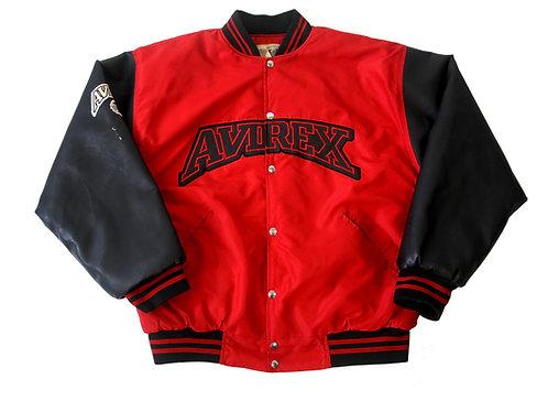 Avirex 'USA' Leather Jacket - L
