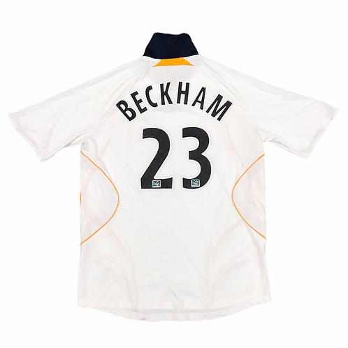 LA Galaxy Adidas 2007/08  'Beckham 23' Home Shirt - L