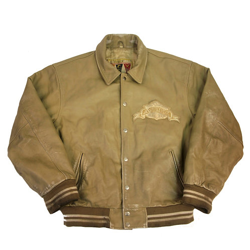Avirex 'A' Leather Jacket - L