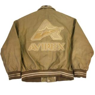 Avirex 'A' Leather Jacket - Fits L