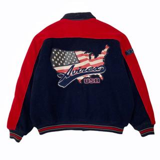 Avirex 'USA Flag' Wool Jacket - Fits XL/XXL
