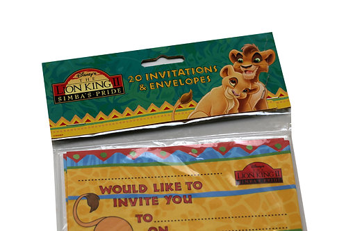 The Lion King 2 Party Invitations & Envelopes
