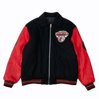 Avirex 'Tuskegee' Reversible Wool/Leather Jacket - Fits S