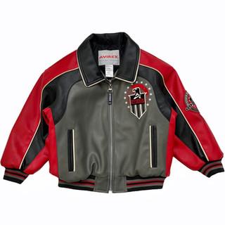 Avirex 'Eagle' Leather Jacket - Fits Child