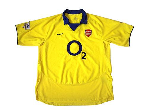 Arsenal Nike Away Shirt 'Pires 7' 2003/05 - XL