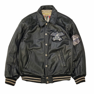 Avirex 'All American Systems' Leather Jacket - Fits M