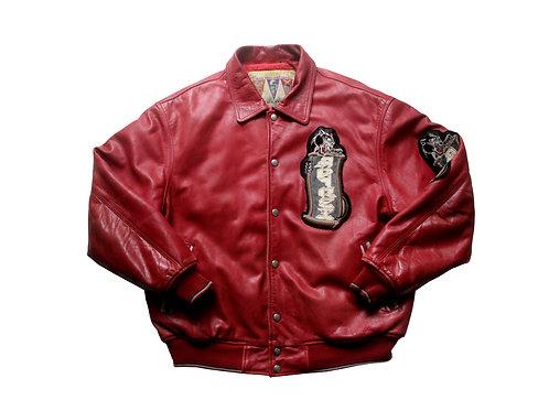 Avirex 'Speed Tigers' Leather Jacket - XL