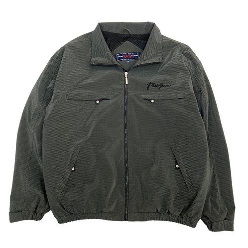 Late 90s Phat Farm 'Snake Skin Print' Zip Up Jacket - XL