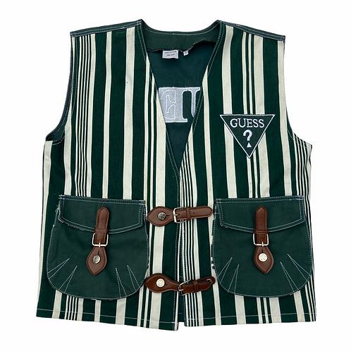 90s Bootleg Guess Green Striped Vest - L/XL