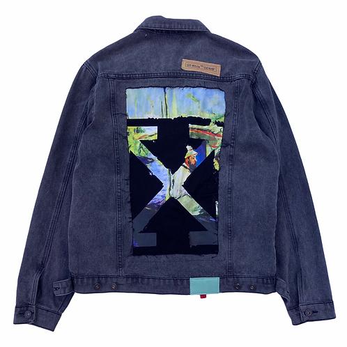 Bootleg / Fake Off-White 'En Plein air' Slim Fit Denim Jacket - Size Small