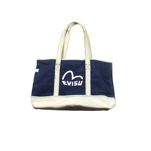 Evisu Genes Cream & Blue Bag