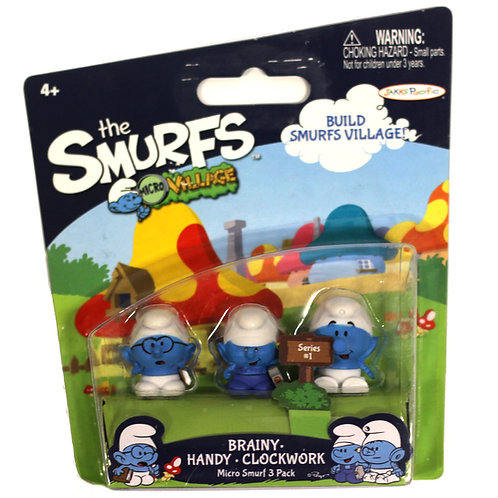 The Smurfs Micro Village 'Brainy, Handy, Clockwork' 2013