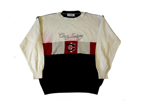 Iceberg 'Chez Iceberg' Knitted Sweatshirt 1993 - L
