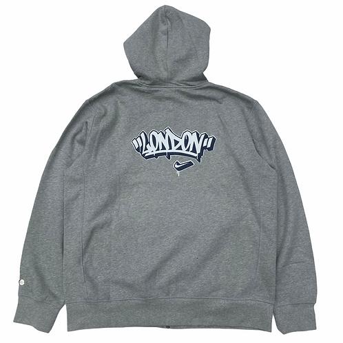 Deadstock Nike 2004  'Nike Town' Grey Full Zip Sweatshirt - XXL