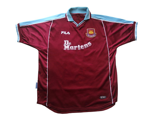 West Ham Fila Home Shirt 2000/01- XL