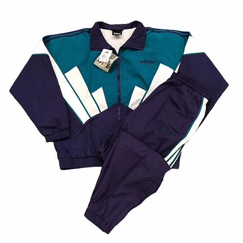 Vintage Deadstock Adidas 1990s 'Justy Poplin' Full Tracksuit - XL
