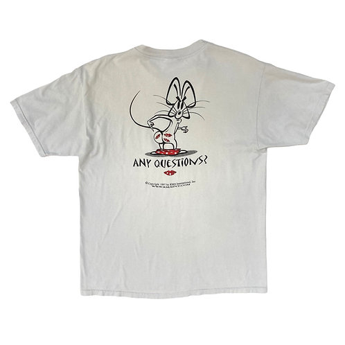 Vintage 1997 KMA 'Any Questions' White T-Shirt - L