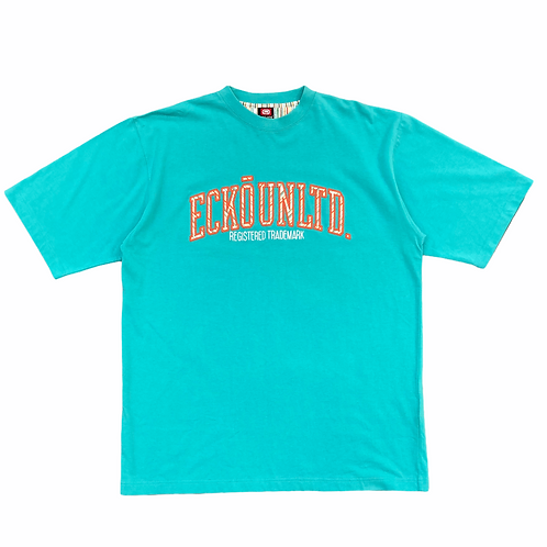 Ecko Unlmtd 'Spellout' Turquoise T-Shirt - L