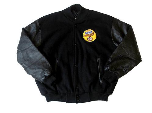 'Nesquik' Imitation Leather Bomber Jacket - L
