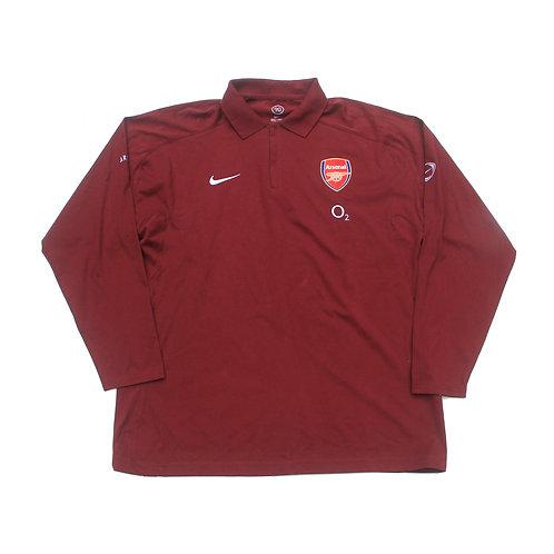 Arsenal Nike 2005/06 L/S Polo Shirt - XL