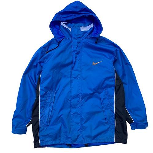 Vintage 90s Bootleg Nike Lightweight Blue Jacket - Size Large