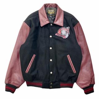 Avirex 'King Casino' Wool/Leather Jacket - Fits M