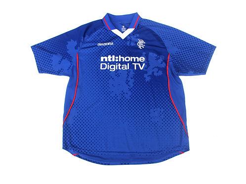 Rangers Diadora Home Shirt 2002/03 - XXL