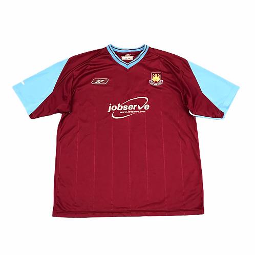 West Ham Rebok 2003/05 home shirt -XL