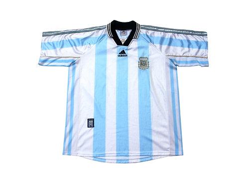 Bootleg Argentina Adidas Home Shirt 1998 - XL