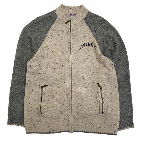 Vintage 90s Avirex Full Zip Fleece Jumper - XL