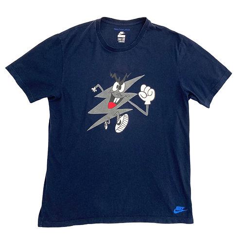 Nike+ Todd James 'Running Man' Navy T-Shirt - L