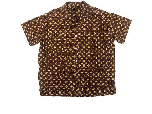 Evisu 'Monogram' All Over Print Shirt' - L