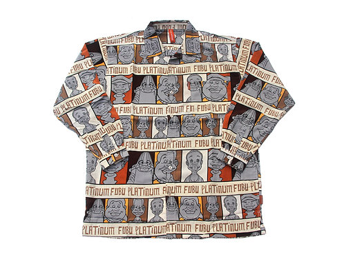 Platinum Fubu 'Fat Albert' All Over Print L/S Shirt - XL & XXL