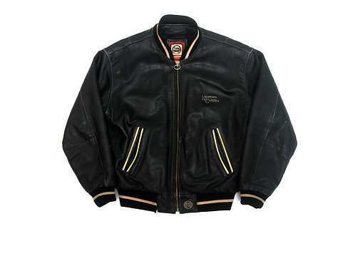 Nickelson Spellout Leather Jacket - L