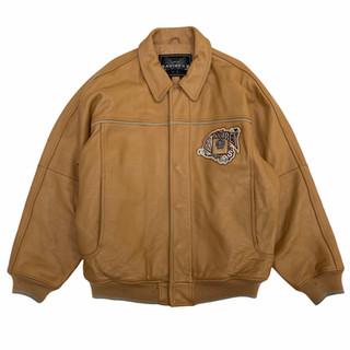 Avirex 'King Casino' Leather Jacket - Fits XL/XXL