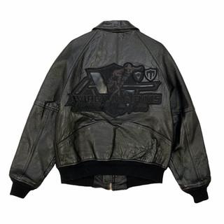Avirex 'NY Tennis' Leather Jacket - Fits S/M