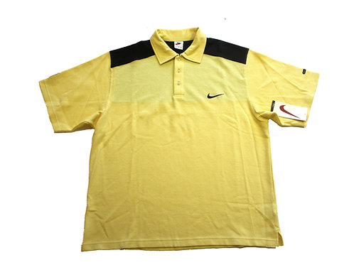 Nike 'Court' 1/4 Button Polo Shirt 90s - L