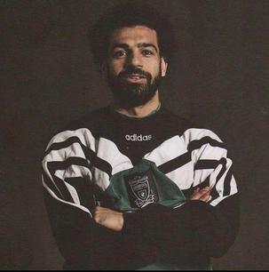 Mo Salah wears Vintage Adidas Jumper