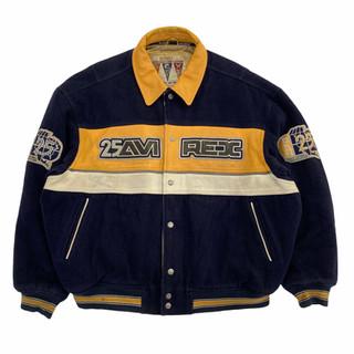 Avirex 'Glory Bowl' Wool/Leather Jacket - Fits XL