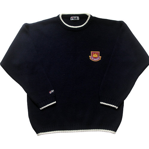 West Ham Fila Knitted Jumper 2000s - S