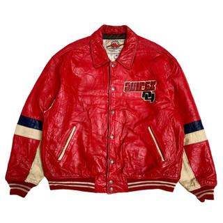 Avirex 'USA' Leather Jacket - Fits XXL