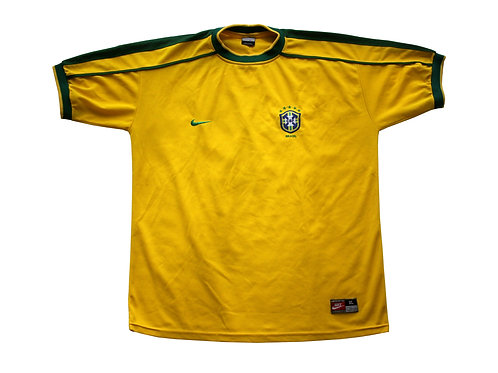 Brazil Nike Home Shirt 1998 - XL