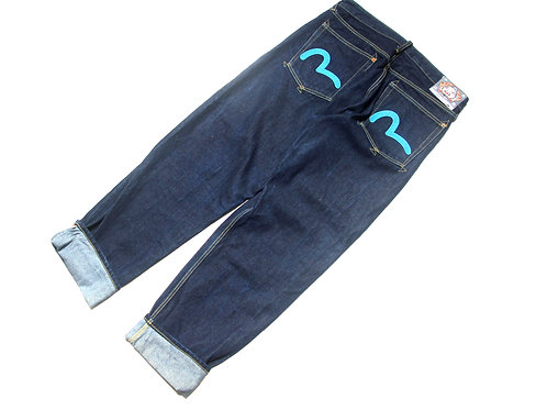 "Evisu 'Blue Pocket' Denim Jeans - 34"" x 34"""