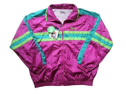 FILA Pink & Green Tracksuit 90's - L/XL
