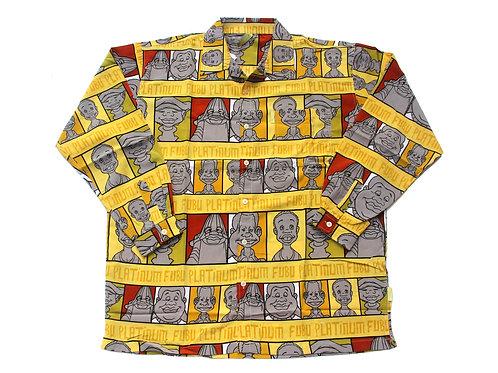 Platinum Fubu 'Fat Albert' All Over Print L/S Shirt - XXL