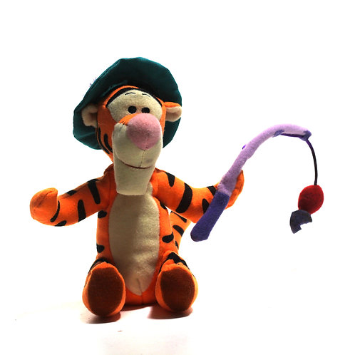"Disney 'Fishing Tigger' 8"" Bean Bag Soft Toy"