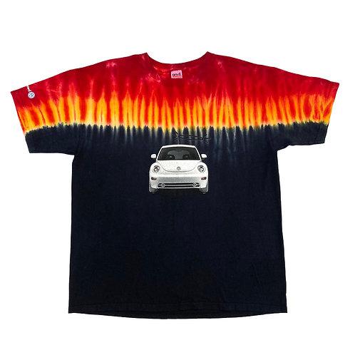 y2k Volkswagen Beetle 'Angel & Devil' all-over Flame Print T-Shirt - XL