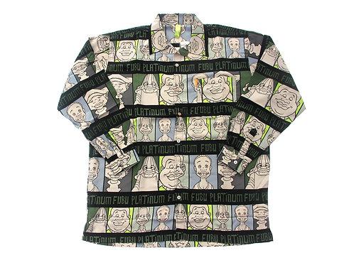 Platinum Fubu 'Fat Albert' All Over Print L/S Shirt - XL & XXL