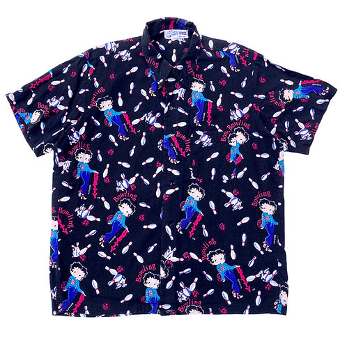 Vintage 90s Betty Boop 'Bowling' All Over Print S/S Shirt - L