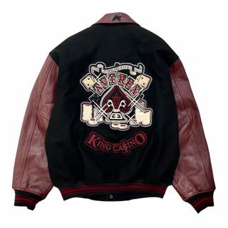 Avirex 'King Casino' Wool/Leather Jacket - Fits Medium